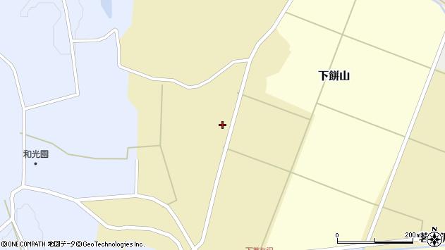山形県酒田市下餅山村下24周辺の地図
