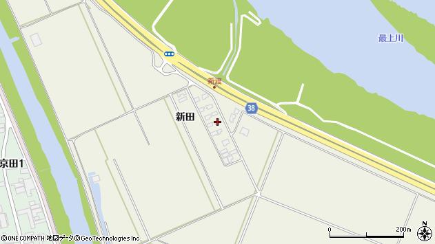 山形県酒田市落野目新田102周辺の地図