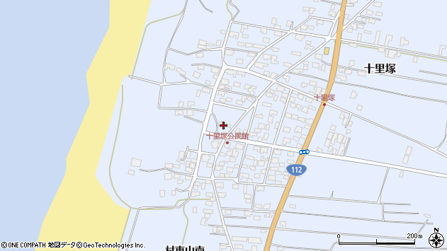 山形県酒田市十里塚村東山北57周辺の地図