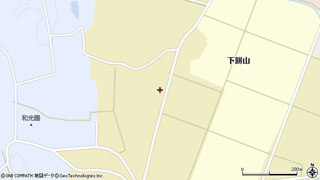 山形県酒田市下餅山村下23周辺の地図
