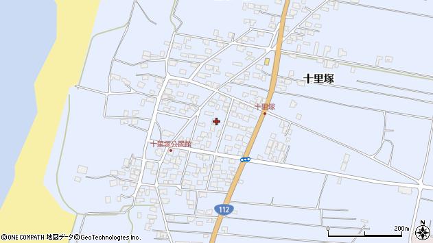 山形県酒田市十里塚周辺の地図