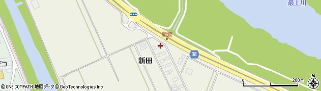 山形県酒田市落野目新田105周辺の地図