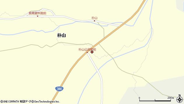 山形県最上郡金山町朴山63周辺の地図