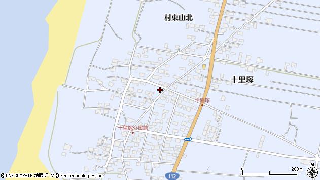 山形県酒田市十里塚乙周辺の地図