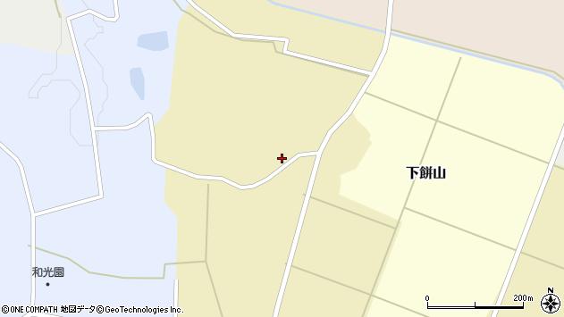 山形県酒田市下餅山村下13周辺の地図