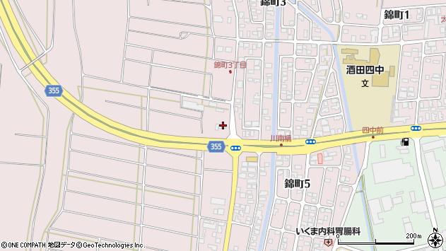 山形県酒田市坂野辺新田東狢山300周辺の地図