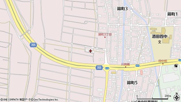 山形県酒田市坂野辺新田東狢山320周辺の地図