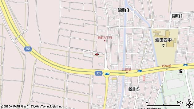 山形県酒田市坂野辺新田東狢山342周辺の地図