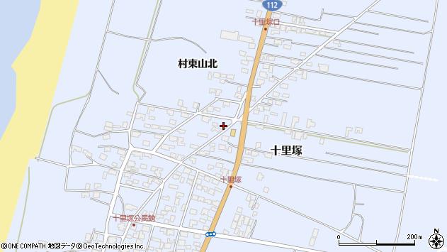 山形県酒田市十里塚村東山北28周辺の地図