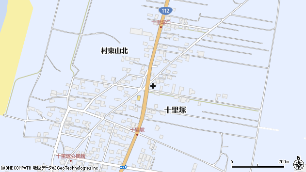 山形県酒田市十里塚村東山北31周辺の地図