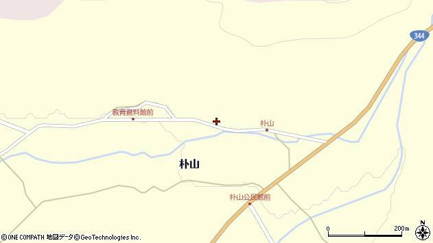 山形県最上郡金山町朴山455周辺の地図