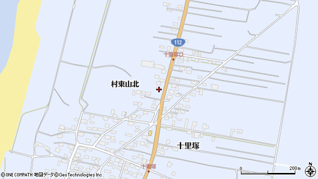 山形県酒田市十里塚村東山北52周辺の地図