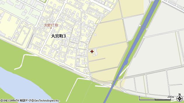 山形県酒田市大宮周辺の地図
