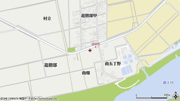 山形県酒田市遊摺部南畑周辺の地図