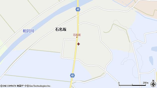 山形県酒田市石名坂周辺の地図