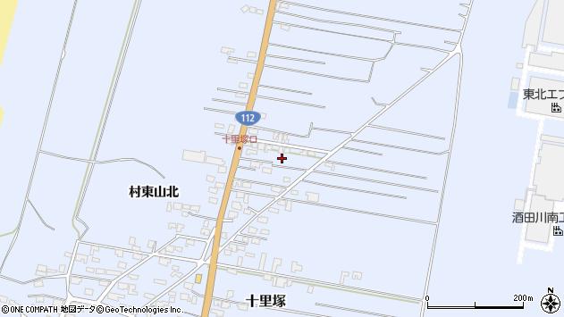 山形県酒田市十里塚村東山北82周辺の地図