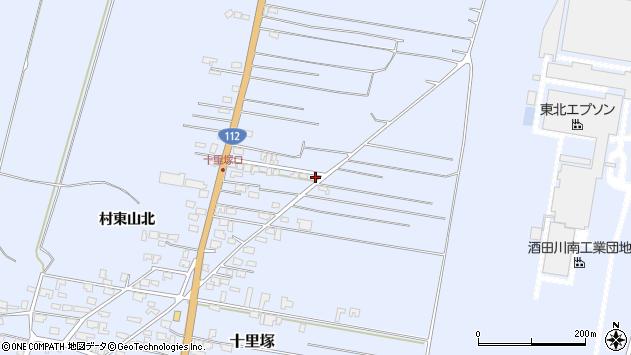 山形県酒田市十里塚村東山北84周辺の地図