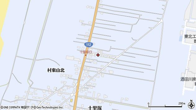 山形県酒田市十里塚村東山北83周辺の地図