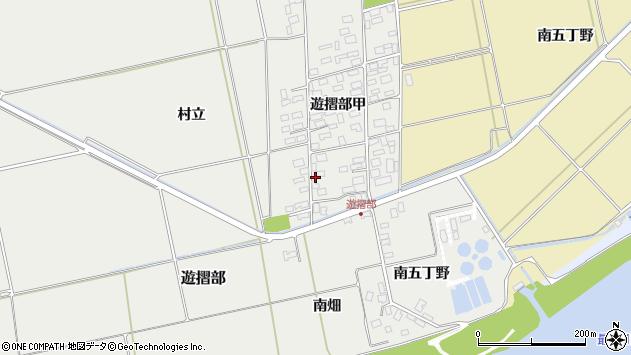 山形県酒田市遊摺部周辺の地図