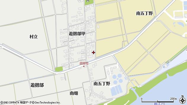 山形県酒田市遊摺部村立134周辺の地図