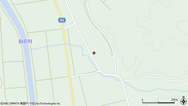山形県酒田市田沢下タ村92周辺の地図