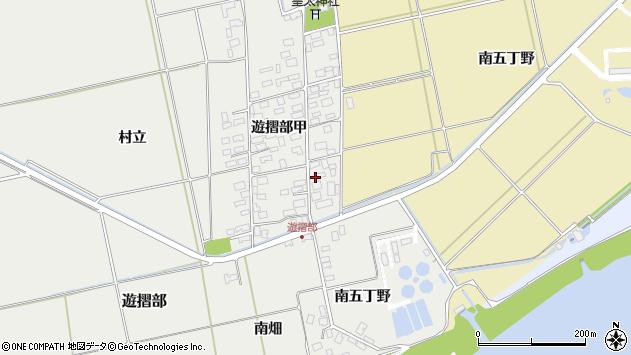 山形県酒田市遊摺部甲周辺の地図