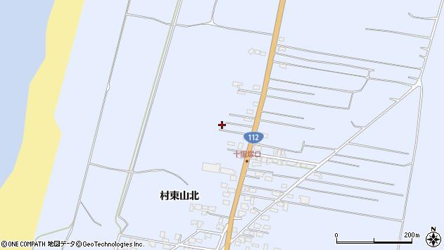 山形県酒田市十里塚村東山北102周辺の地図