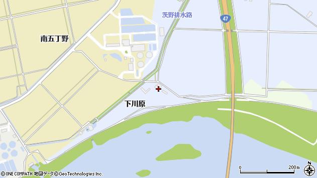 山形県酒田市砂越下川原周辺の地図
