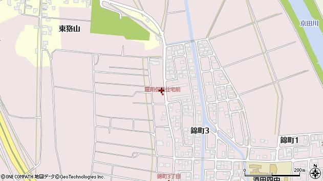 山形県酒田市坂野辺新田東狢山586周辺の地図