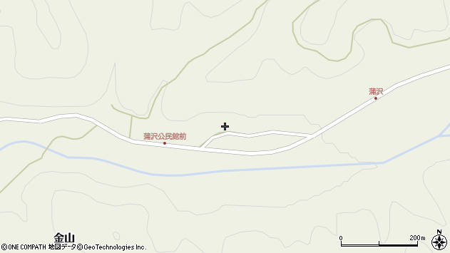 山形県最上郡金山町金山1281周辺の地図