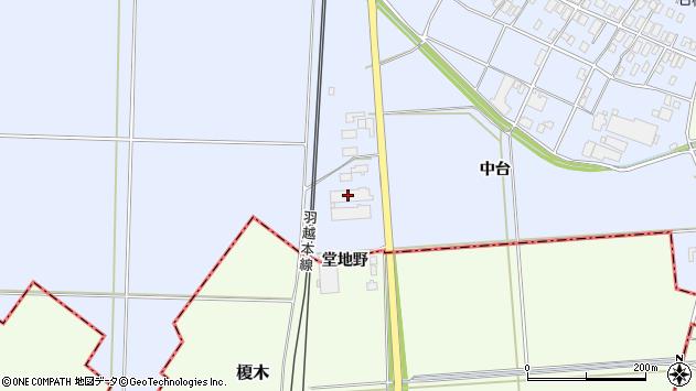 山形県酒田市砂越中台123周辺の地図