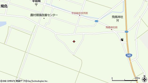 山形県酒田市飛鳥神内周辺の地図