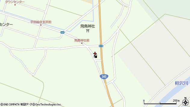 山形県酒田市飛鳥349周辺の地図