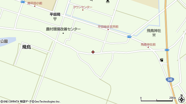 山形県酒田市飛鳥74周辺の地図