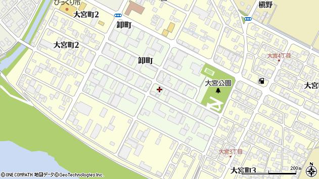 山形県酒田市卸町周辺の地図