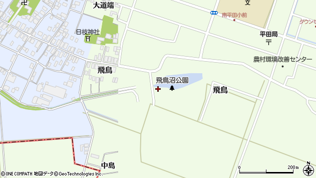 山形県酒田市飛鳥中島234周辺の地図