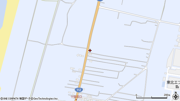 山形県酒田市十里塚村東山北141周辺の地図