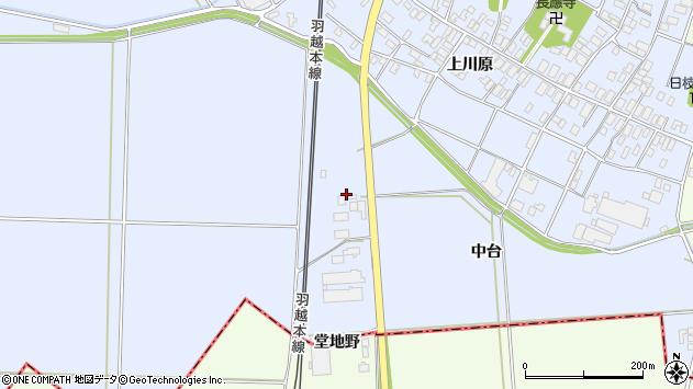 山形県酒田市砂越中台周辺の地図