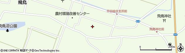 山形県酒田市飛鳥周辺の地図