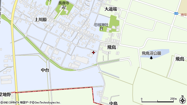 山形県酒田市砂越上川原25周辺の地図