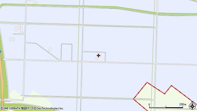 山形県酒田市砂越中島周辺の地図
