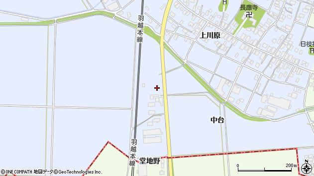 山形県酒田市砂越中台34周辺の地図