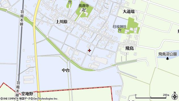 山形県酒田市砂越上川原696周辺の地図
