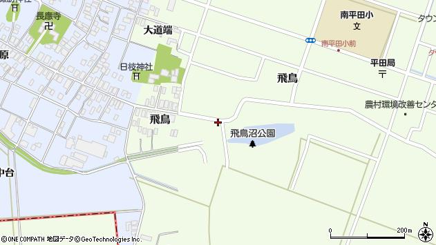 山形県酒田市飛鳥38周辺の地図