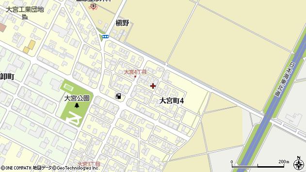 山形県酒田市大宮町4丁目周辺の地図