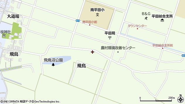 山形県酒田市飛鳥8周辺の地図