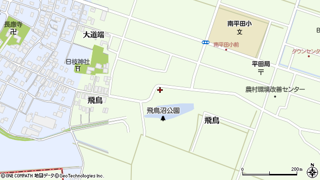 山形県酒田市飛鳥32周辺の地図