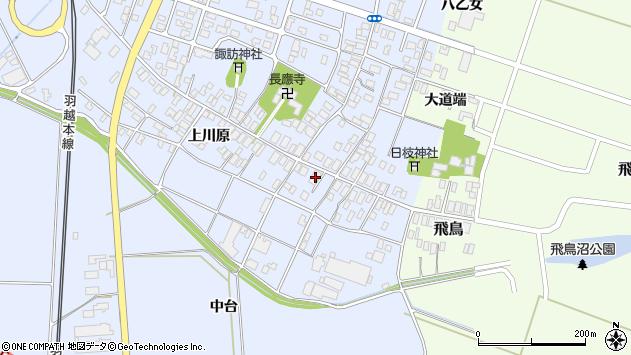 山形県酒田市砂越上川原11周辺の地図