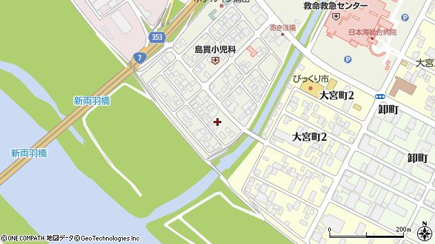 山形県酒田市あきほ町662周辺の地図
