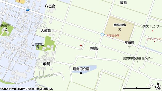 山形県酒田市飛鳥154周辺の地図